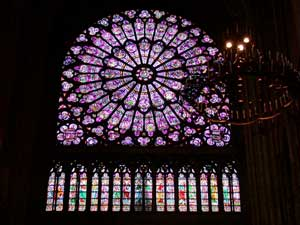 Rose Window, North Transcept - Cathedral of Notre Dame, Paris